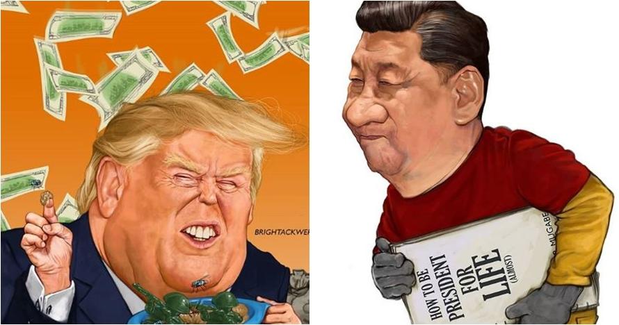 15 Ilustrasi ini sindir kebijakan presiden di berbagai negara