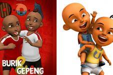 6 Potret Burik & Gepeng, karakter kartun 'Upin Ipin Indonesia'