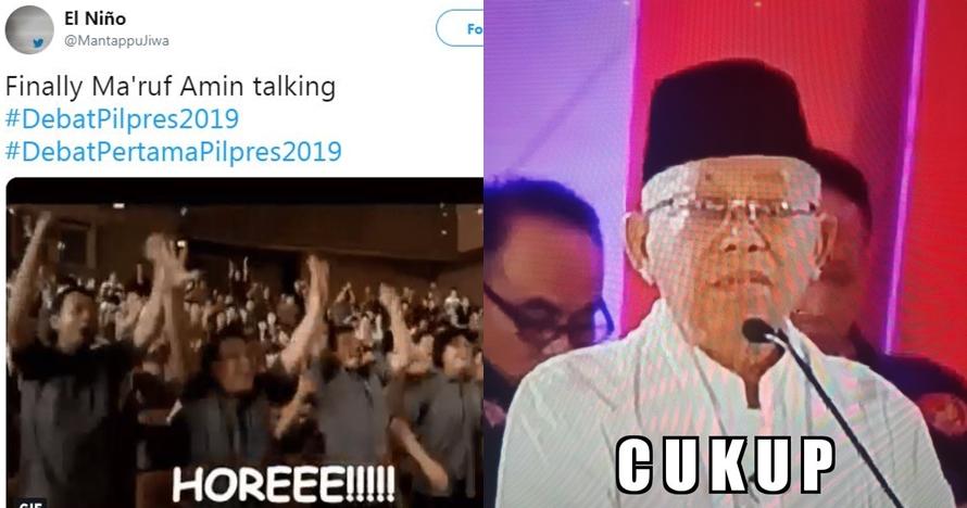 12 Cuitan lucu tanggapi pernyataan Jokowi Ma ruf di debat capres