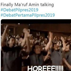 12 Cuitan lucu tanggapi pernyataan Jokowi-Ma'ruf di debat capres