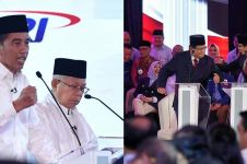 Ini yang dilakukan Jokowi & Prabowo saat jeda iklan debat capres