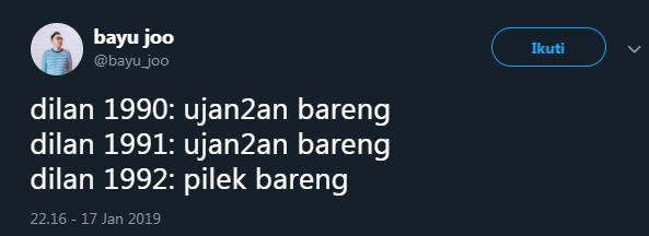 cuitan Dilan 2 twitter