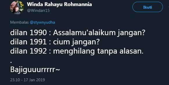 cuitan Dilan 9 twitter