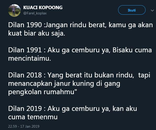 cuitan Dilan 11 twitter