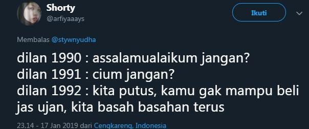 cuitan Dilan 12 twitter