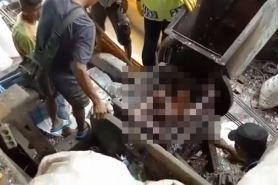 Momen mengerikan evakuasi pria tergiling mesin daur ulang plastik