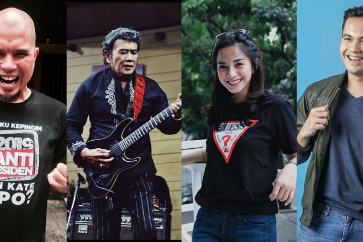 20 Seleb di kubu Jokowi-Ma'ruf vs Prabowo-Sandi, ikut kampanye