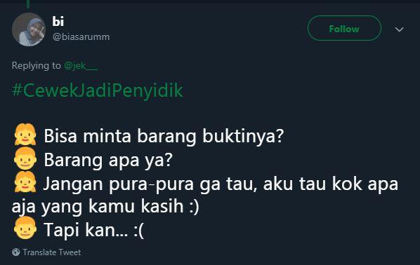 cewek jadi penyidik © 2019 Twitter