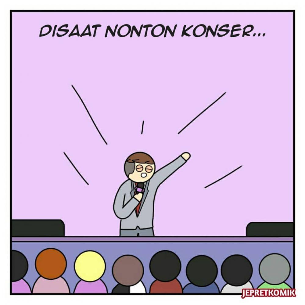 komik derita nonton konser © Instagram/@jepretkomik