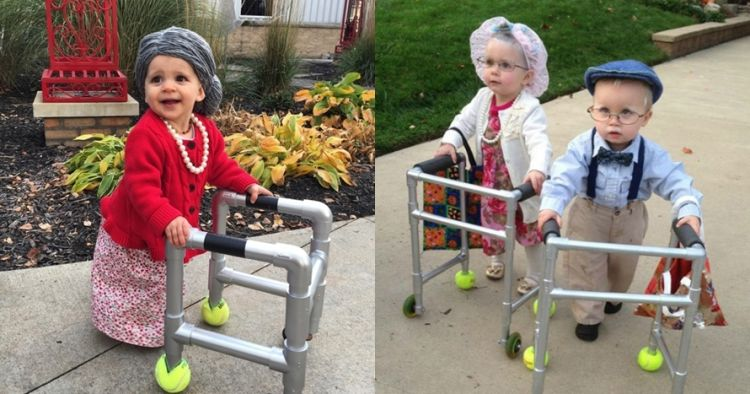 10 Potret menggemaskan bayi didandani jadi kakek-nenek, lucu abis