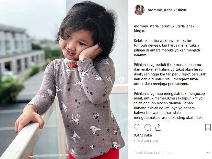 ungkapan hati Inara instagram