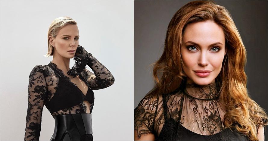Luluhkan Brad Pitt, 10 beda gaya Charlize Theron & Angelina Jolie