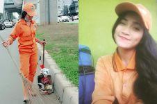 Viral petugas Pasukan Oranye cantik, awas bikin salah fokus