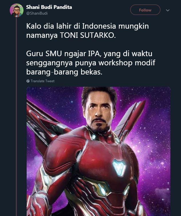 cocoklogi karier superhero indonesia © Twitter/@ShaniBudi