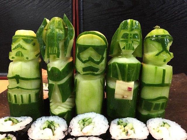 ukiran sayuran pendamping sushi © 2019 brilio.net berbagai sumber