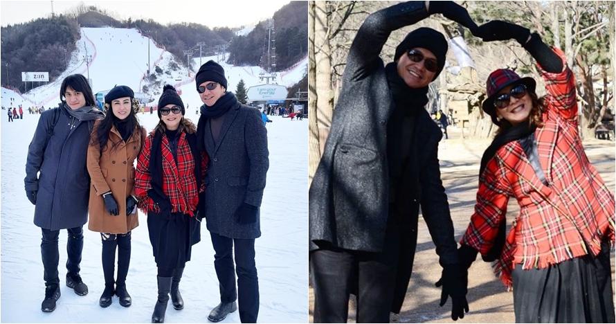 10 Foto Memes-Addie MS liburan di Korea, akrab dengan Vicy Melanie