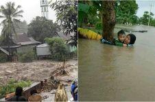 10 Potret dahsyatnya banjir bandang terjang Gowa Sulawesi Selatan