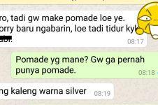 Chat cowok pinjam pomade ke temannya ini endingnya tak terduga