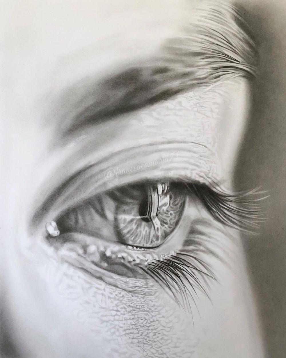 Lukisan pensil francescomaria71 instagram