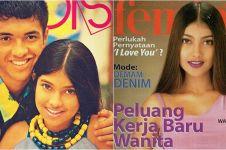 10 Potret Sarah Azhari saat masih jadi cover majalah jadul