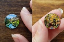 11 Lukisan bertema alam di atas koin ini detailnya bikin takjub