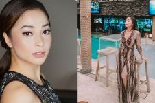 6 Foto Nikita Willy pakai gaun belahan tinggi, bikin susah kedip