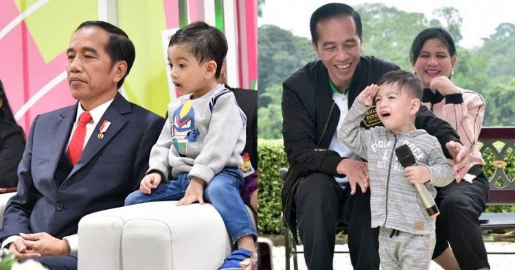 10 Ekspresi kocak Jan Ethes cucu Jokowi, polahnya gemesin
