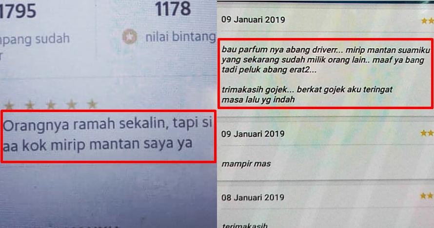 8 Curhat penumpang ojek online teringat mantan, endingnya baper