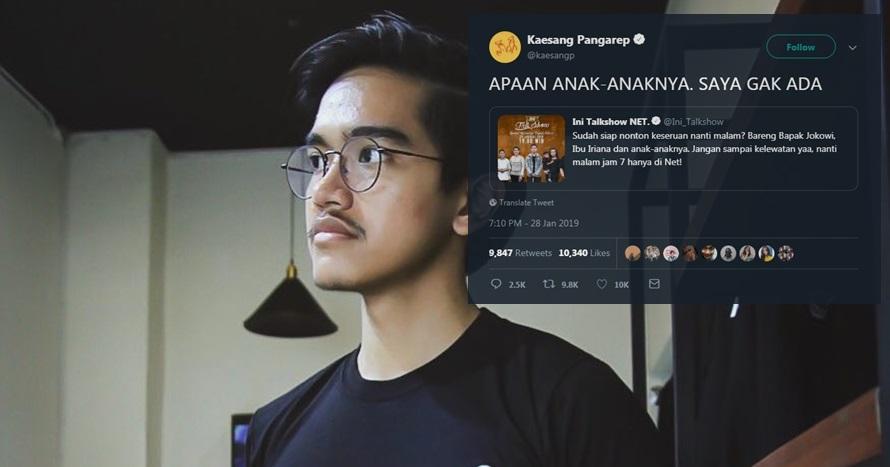 4 Reaksi kocak Kaesang nggak ikut talkshow keluarga Jokowi