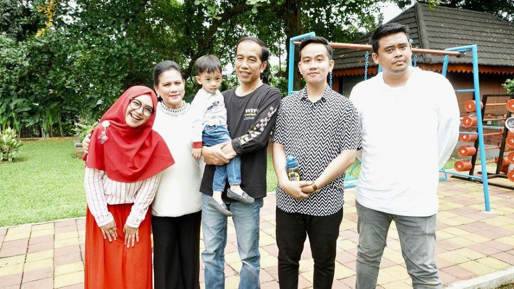acara keluarga Jokowi tanpa Kaesang  © 2019 brilio.net