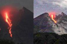 10 Potret guguran lava pijar Merapi, sebabkan hujan abu di Boyolali