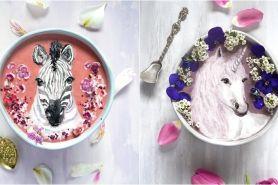 15 Lukisan indah di atas smoothie bowl ini bikin tak tega makan