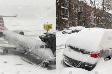 10 Potret ngeri cuaca dingin ekstrem melanda Amerika Serikat