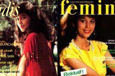 10 Gaya Meriam Bellina saat jadi model majalah jadul, ikonik abis