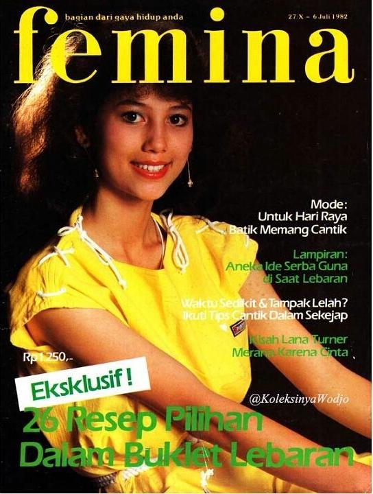 10 Gaya Meriam Bellina saat jadi model majalah jadul