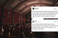 12 Cuitan lucu 'nyanyi Indonesia Raya' di bioskop ini kocak abis