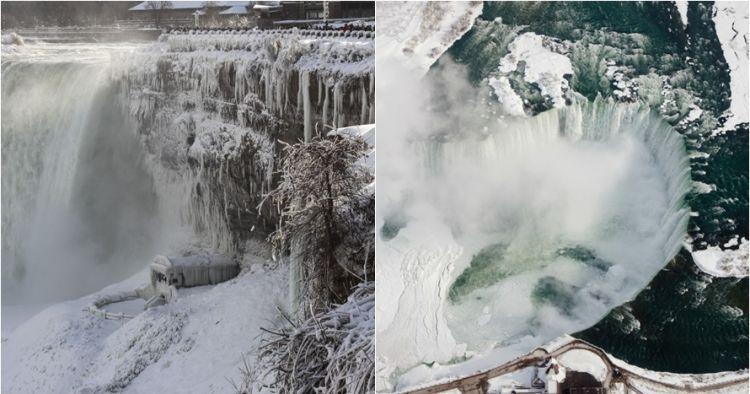 8 Potret tak biasa air terjun Niagara saat cuaca dingin ekstrem