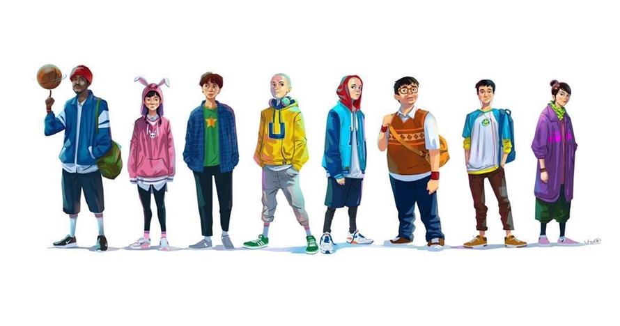 Ini penampilan 8 karakter Upin Ipin kenakan baju gaul