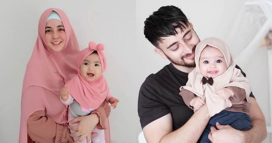 9 Potret lucu bayi artis pakai hijab, gemesnya nggak ketulungan