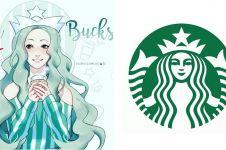 7 Ilustrasi terinspirasi logo perusahaan ternama ini keren banget