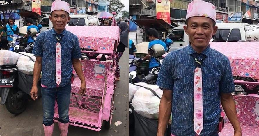 Becak bertema Hello Kitty di Tasikmalaya ini viral, serba pink