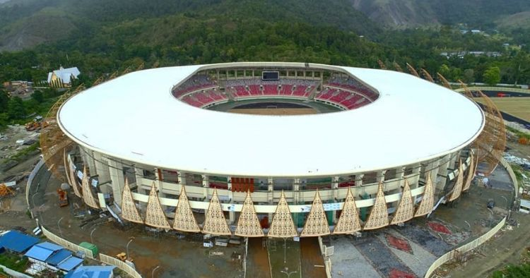 10 Foto terbaru Papua Bangkit, stadion termegah Indonesia timur