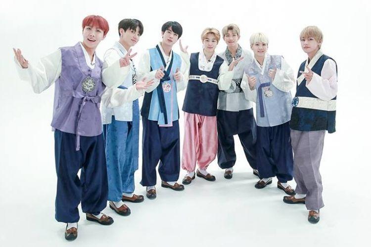8 Beda gaya pemotretan BTS bertema Lunar New Year, keren semua
