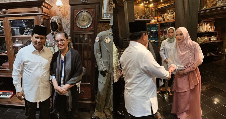 5 Momen Prabowo kunjungi keluarga Ahmad Dhani, janji upaya hukum