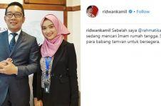 Kisah happy ending cewek dapat jodoh usai dipromosikan Ridwan Kamil
