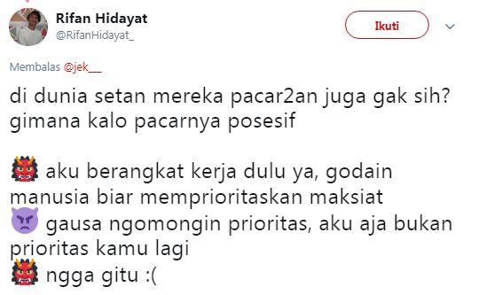 kalau setan pacaran © 2019 Twitter