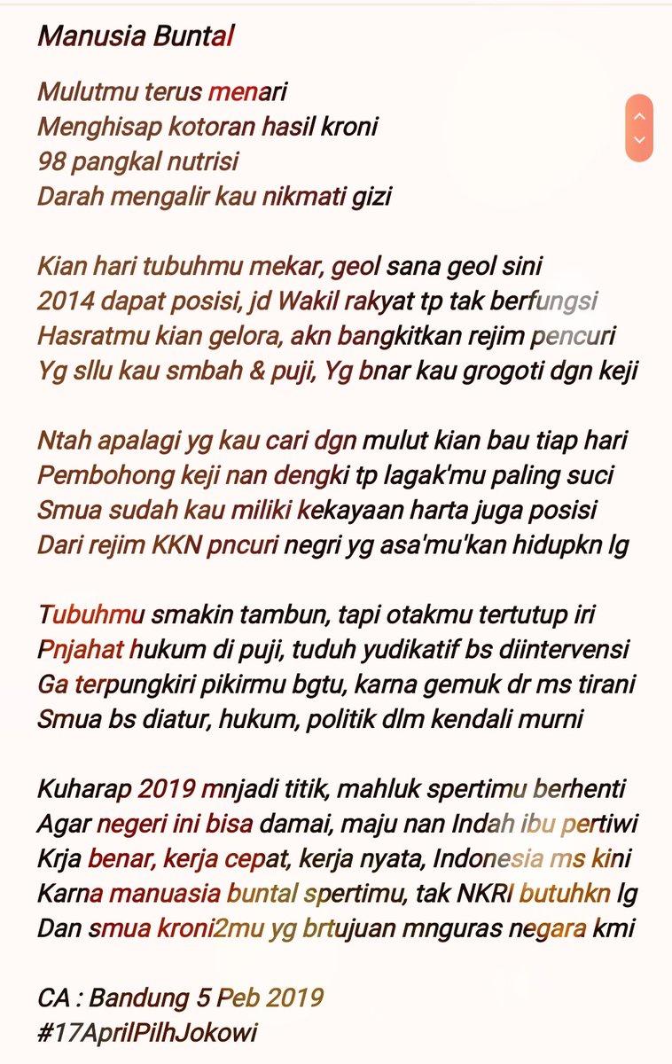 puisi balasan untuk Fadli Zon  © 2019 brilio.net