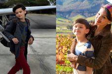 Jarang terekspos, ini 10 potret anak Farah Quinn yang tampan