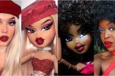 10 Inspirasi makeup mirip boneka Bratz, bikin gemes