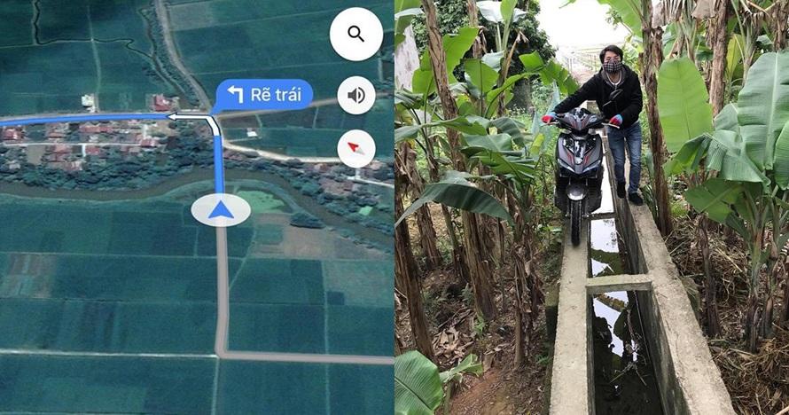 Ikuti saran Google Maps, pria ini nyasar sampai harus lewat parit